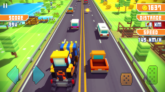 Blocky Highway: Traffic Racing App Latest Version Download For Android and iPhone 4