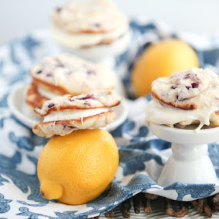 Lemon Blueberry Whoopie Pies.
