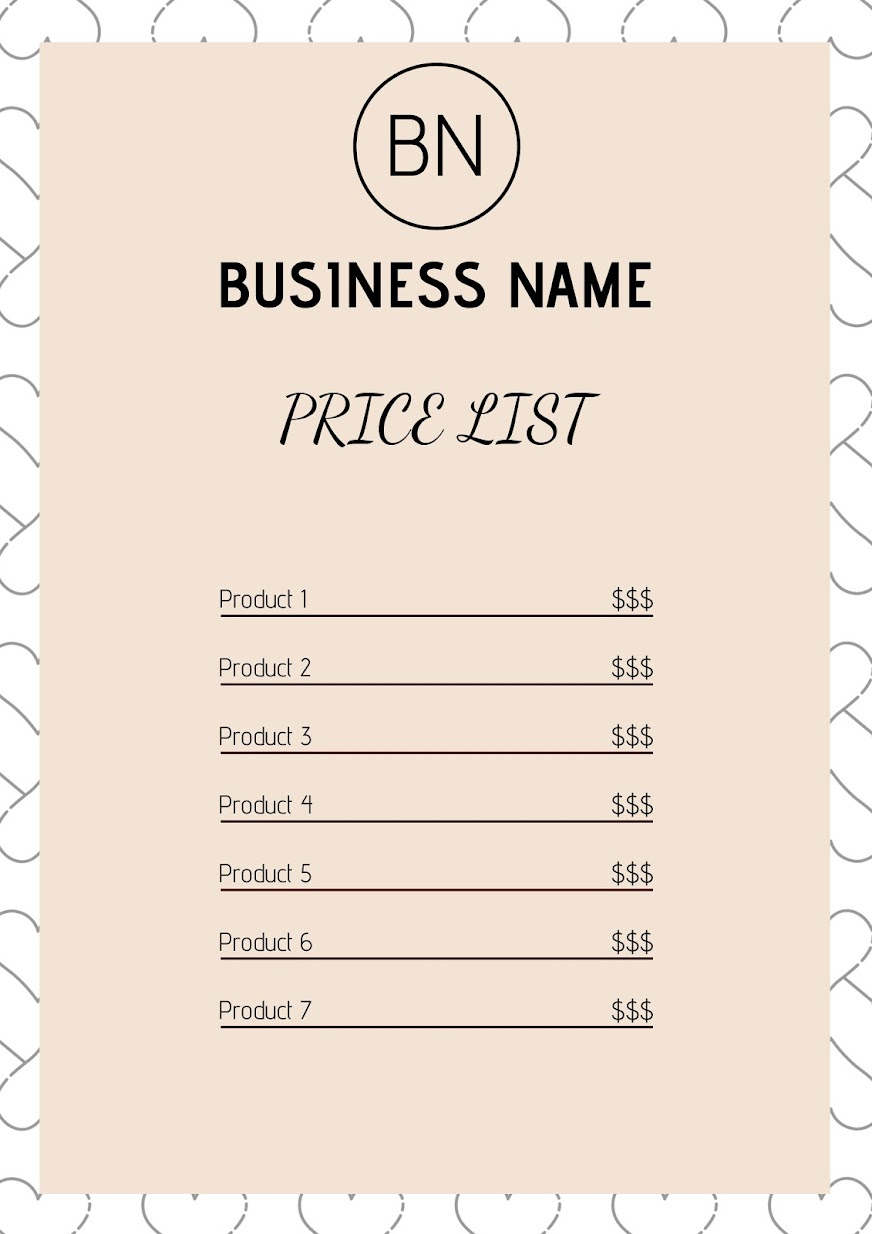 Undervalue it, and you might set the bar. Price List Template 15 Great Price Lists