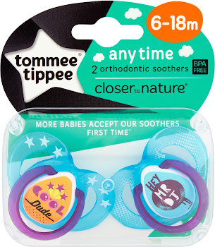 Tommee Tippee Closer to Nature Any Time Orthodontic Soothers 6-18m - 2 Pack
