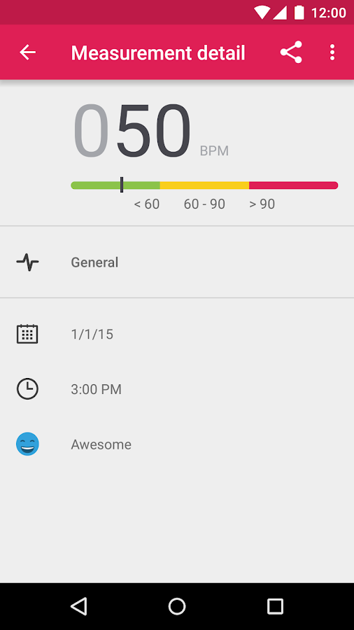 Runtastic Heart Rate Monitor - screenshot