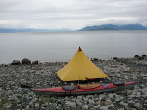 Photo: My campsite at Point Bridget on Berners Bay in Lynn Canal.