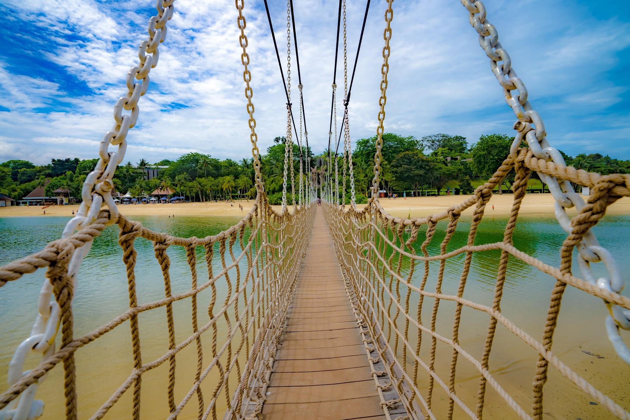 シンガポール セントーサ パラワンビーチ 吊り橋4