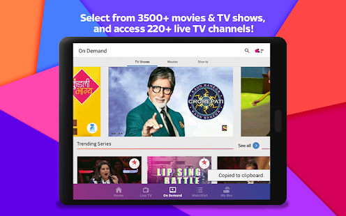 Tata Sky Mobile – Live TV & Recharge- screenshot thumbnail