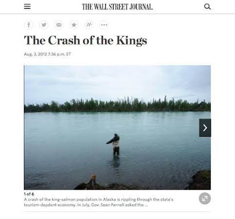 Kenai king salmon for the Wall Street Journal