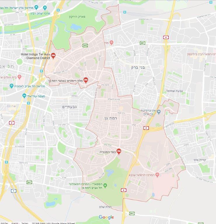 מודרני רמת גן, שכונות, גנים ואתרים לאורכה ולרוחבה של העיר - עמירם במשעולי ZR-44