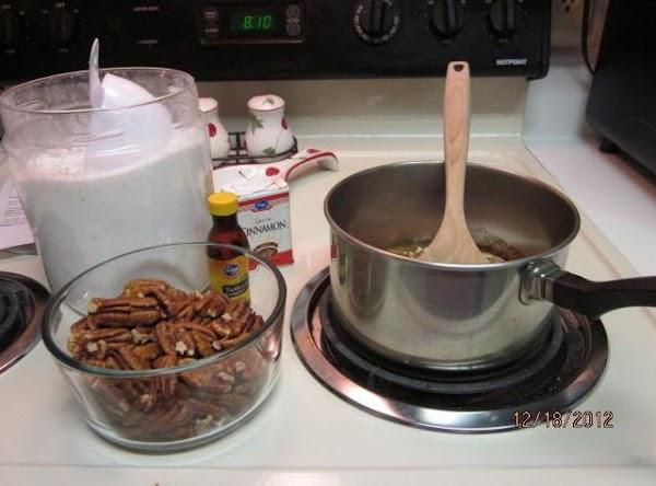 Combine sugar, cinnamon, salt and water in a saucepan; cook, stirring over medium heat...