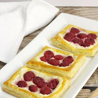 Easy Raspberry Cheese Danishes.