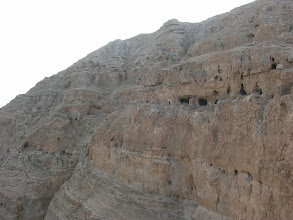 Photo: Notice the caves along the mountainside.