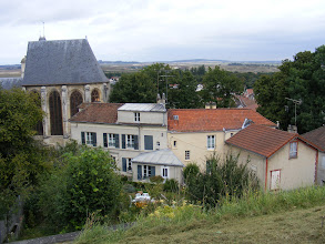 Photo: The Château is one high ground, and looks down on the town of Écouen.