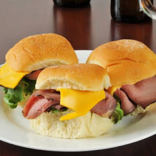 Easy Slow-Cooked Roast Beef Sandwiches.