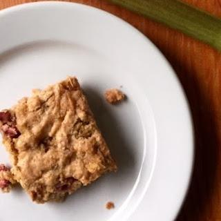 Oatmeal Rhubarb Cookie Bars