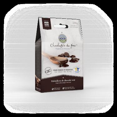 Chocolat Médaillons de chocolat noir pour fondue et recettes Boites maison (épicerie)