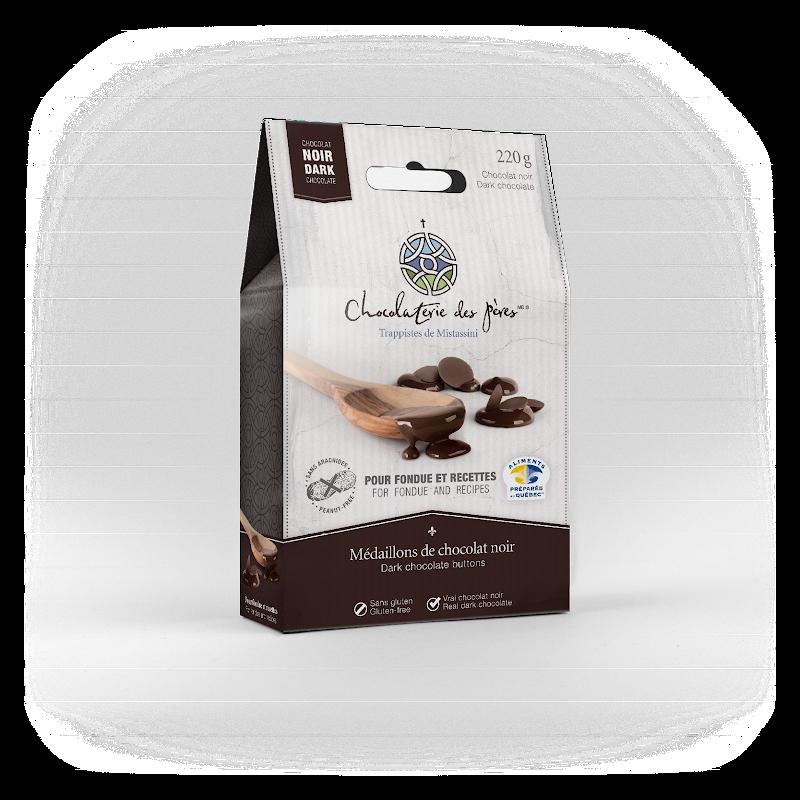 Chocolat Médaillons de chocolat noir pour fondue et recettes