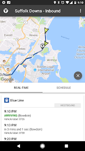 MBTA Tracker- screenshot thumbnail