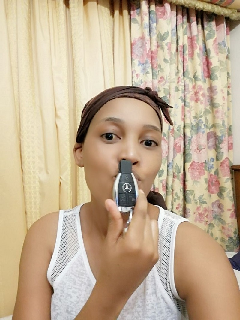 Malibyane Maoeng poses with car keys.