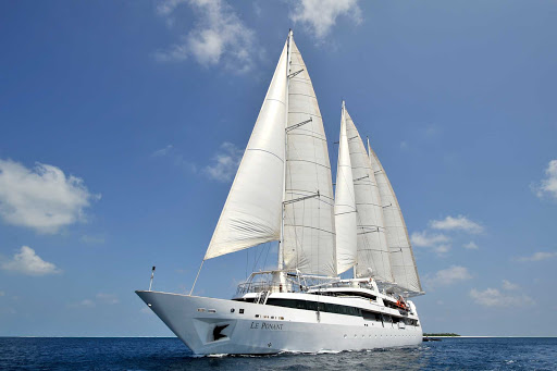 Ponant-maldives8.jpg - Take a dream cruise on Le Ponant for a small-ship yacht experience.
