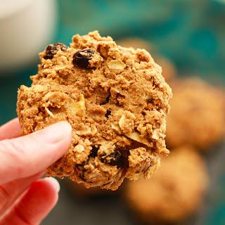 Apple Raisin Protein Cookies.