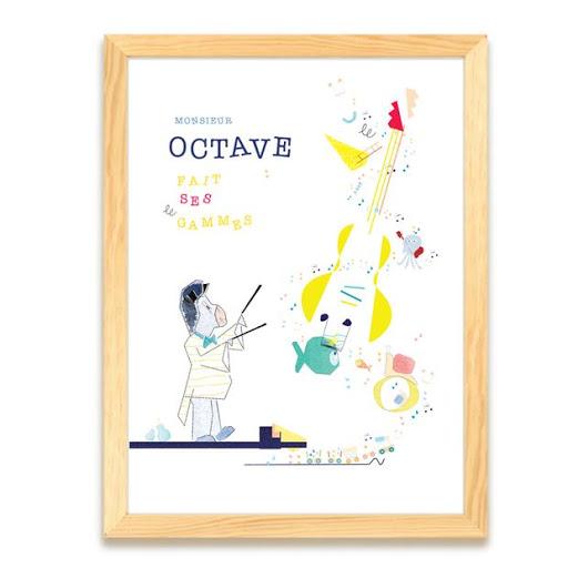 Affiche personnalisée Musique - Cadeau naissance - anniversaire enfant - tournedisque - tableau personnalisé