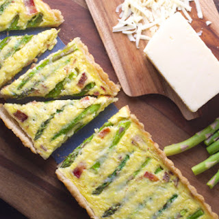Asparagus and White Cheddar Quiche.