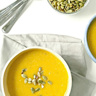 Roasted Butternut Squash Soup with Toasted Pumpkin Seeds