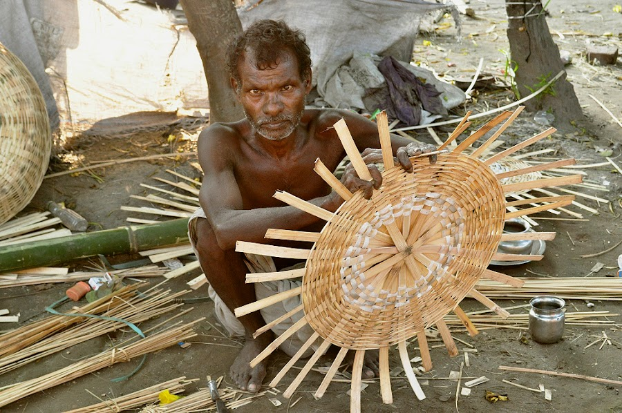 the craftsman by Sumit Patel - People Portraits of Men ( craft, india, artist )