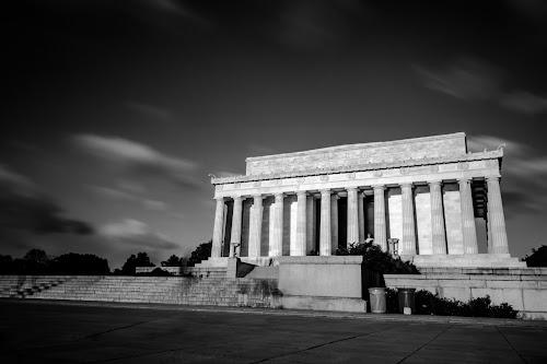 Lincoln Memorial Monument by Arnab Dutta - Black & White Buildings & Architecture ( washington, lincoln memorial monument, architecture )
