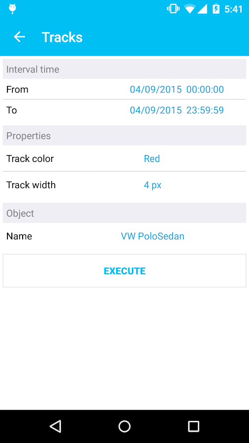 TrackingM- screenshot