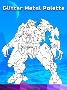 Robots Coloring Pages with Animated Effects Screenshot