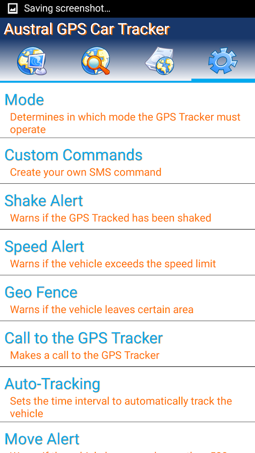 GPS Tracker Car TK SMS- screenshot