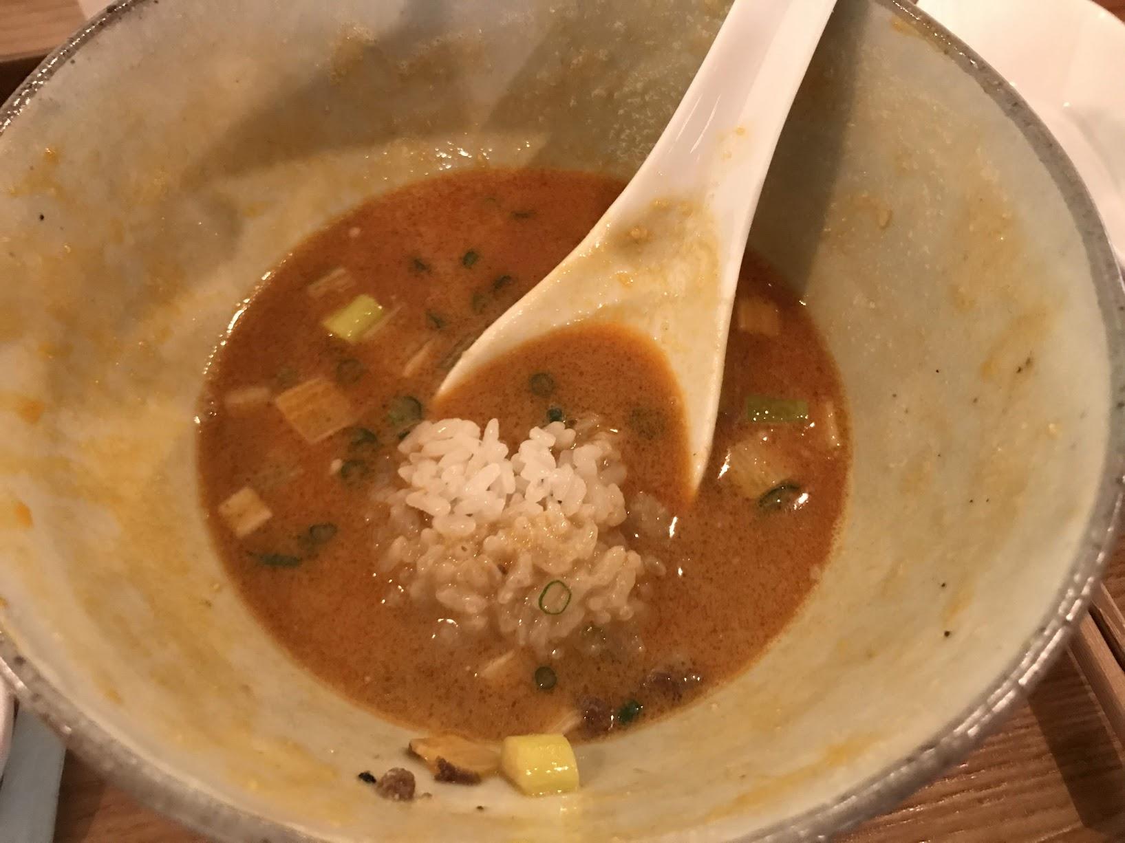 タンタン麺とライス