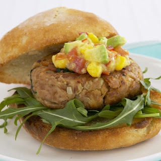 Tuna Burgers with Avocado and Corn Salsa