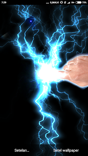 Electrical Lightning Touch Thunder Live Wallpapper screenshot 2