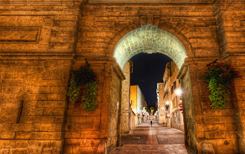 Photo: The Keyhole to the Old City - Montpellier, France  This is the second photo I have posted from Montpellier.  I have a lot more to process... it's a beautiful town!  We were staying with a very nice older couple and had spent the evening in the city.  Before leaving, we were not quite sure how to get back to their home.  After asking, we got one of those very quick but complex set of directions.  They are the sort of directions people give when they have lived somewhere their entire life...  They mention landmarks that they are quite sure we have already seen and give dire warnings about going down the wrong fork in, oh, you know the place....so on and so forth... and then we were thrust out into the cruel city... not really having any sure way of finding our way home...  but, I figured, as long as we were lost, we would take photos along the way.  That is when I saw this...  from the blog www.stuckincustoms.com