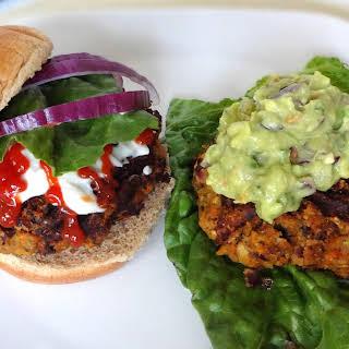 Chickpea & Lentil Veggie Burger.