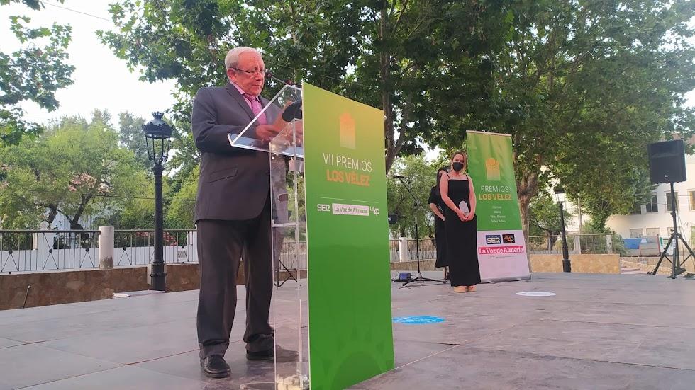 Diego Iglesias Cabrera, en su discurso tras recoger el Premio Gente.
