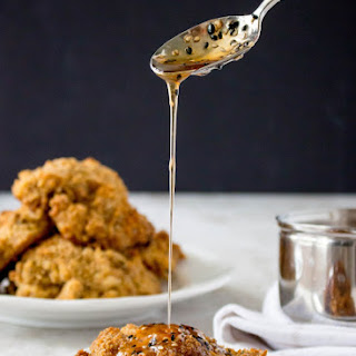 Pickle-Brined (Oven) Fried Chicken with Spicy Sesame Honey