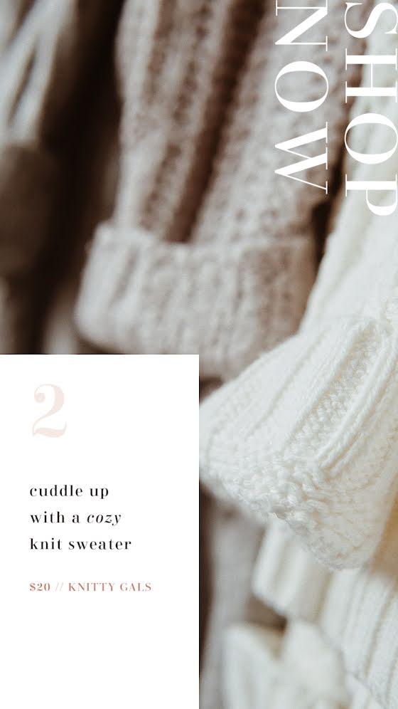 Shop Now Sweater - Facebook Story Template