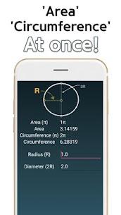 Circle Area Circumference Calculator 2