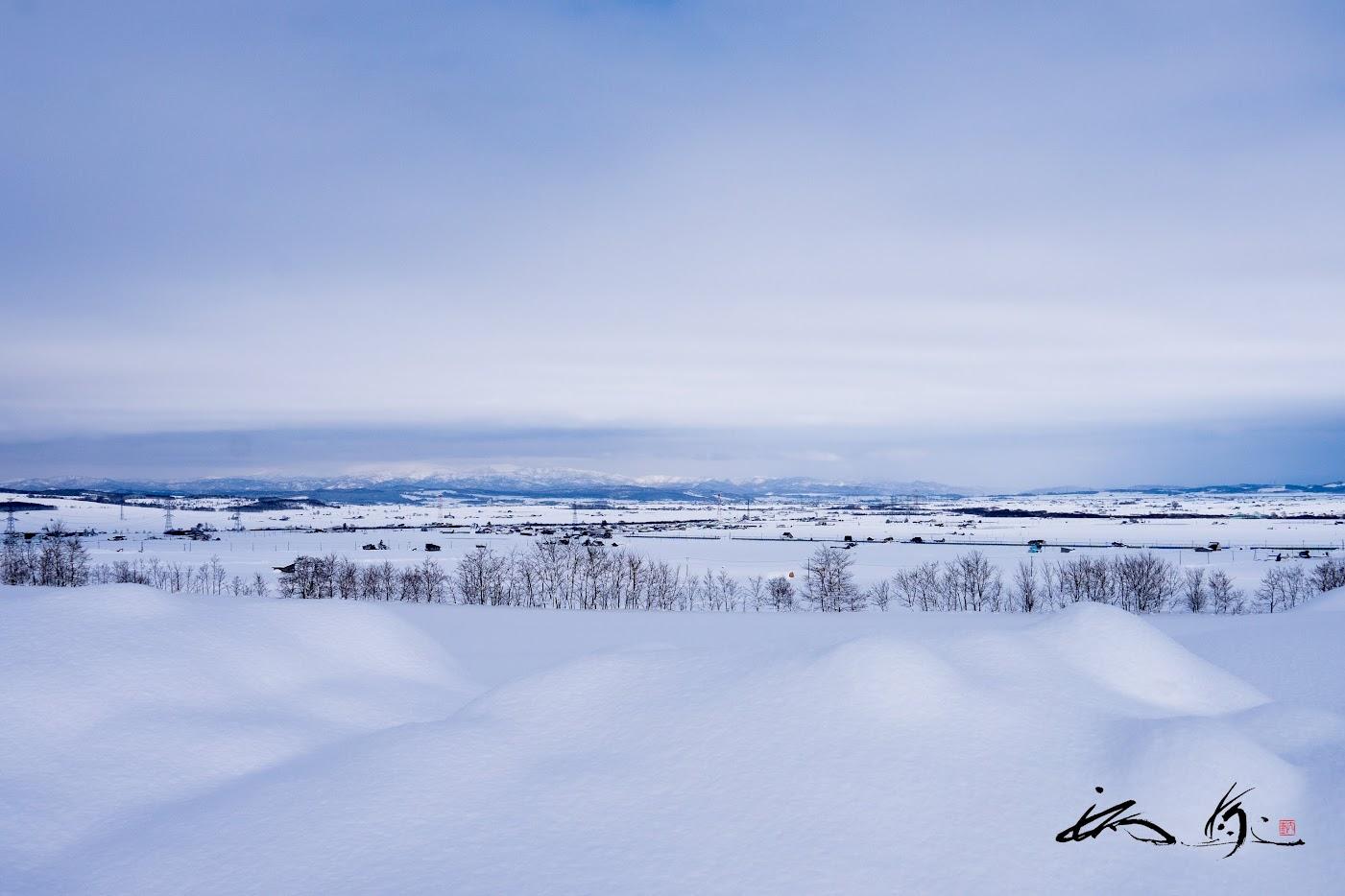 ふんわりと柔らかなお布団のような雪。。。
