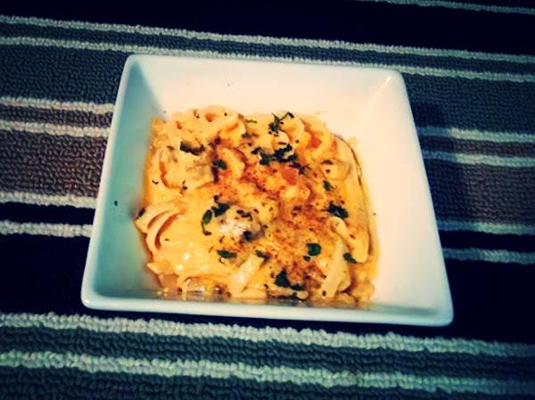 Fettuccine W Butternut Squash Mushroom Cream Sauce Recipe