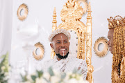 A closer look at the crown-like headpieces Mohale Motaung and Somizi Mhlongo wore on their traditional wedding day.