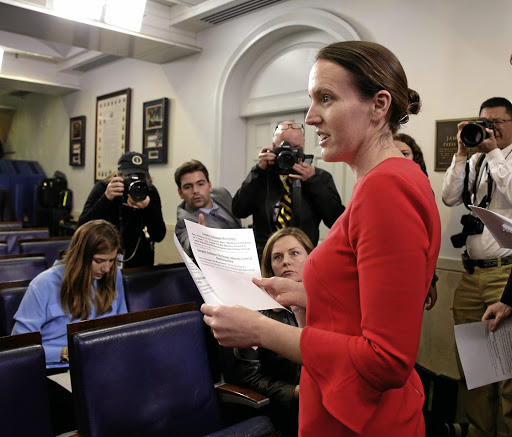 Enough: White House deputy press secretary Lindsay Walters says the US president has made it clear 'any further illegal trade actions by China are not acceptable, including the unfair targeting of US sorghum producers'. Picture: REUTERS