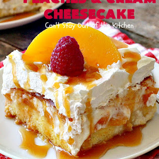 PEACHES and CREAM CHEESECAKE Recipe