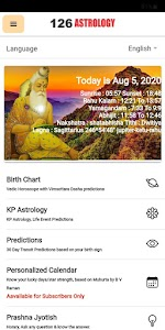 126 Astrology: Birth Chart Analysis, Kundli App 126.30.2