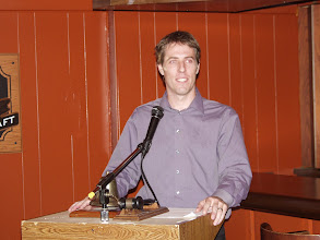 Photo: The illustrious Patrick St-Onge, OVC President 2008-2009 at the podium