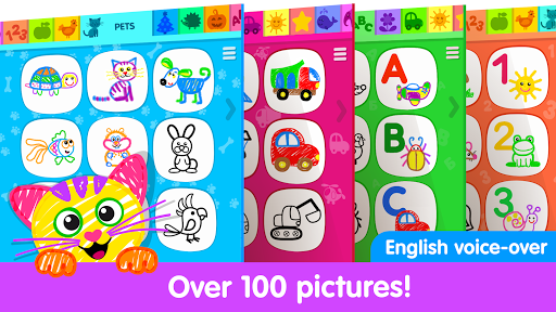 Toddler Drawing Academy🎓 Coloring Games for Kids  screenshots 1