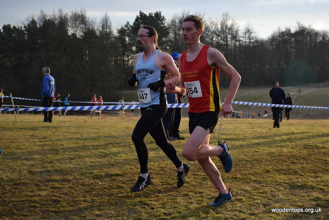 Show of me overtaking a Harrogate Harriers runner. Or maybe they are overtaking me...!