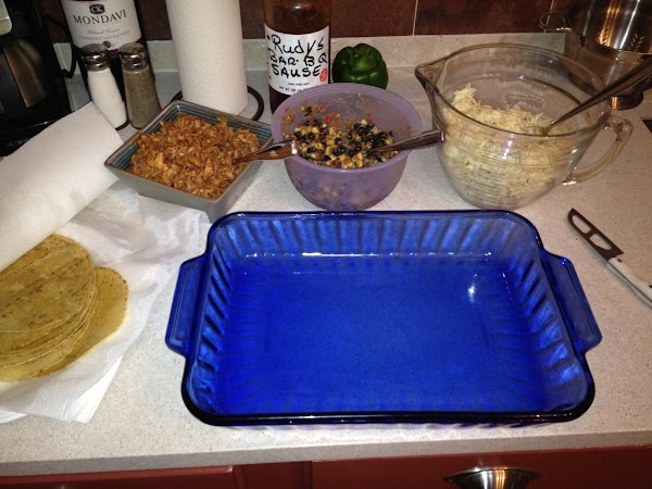 Mix chicken and 1 cup bbq sauce in a bowl and set aside. Have...