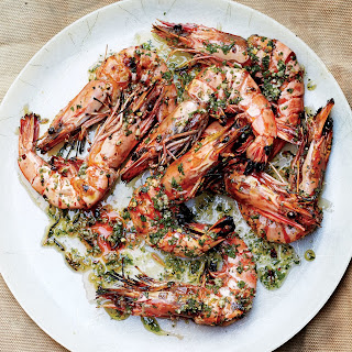 Head-On Prawns with Chile, Garlic, and Parsley